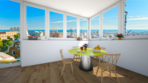 pop of color - Retro - Dining room - by franciss