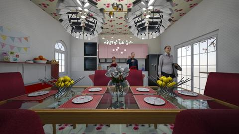 pinky kitchen - Kitchen - by trangtuankiet
