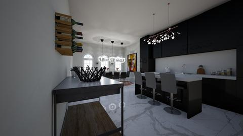 Red - Modern - Kitchen - by emmakatherinee