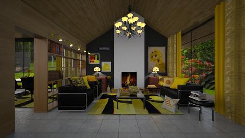 mid century living room - Living room - by Matilda de Dappere