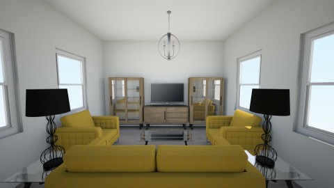 modern cool living room - Living room - by thebye