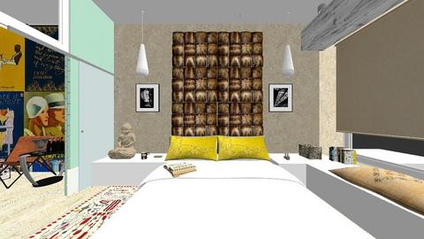 mansarda ilbah coco final - Bedroom - by cosmina croitoru