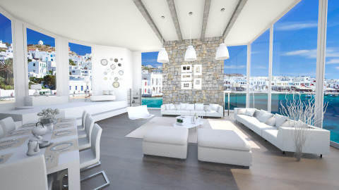white lrm - Modern - Living room - by Senia N
