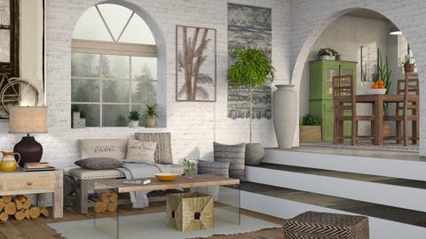 Modern Rustic - Rustic - Living room - by Sally Simpson