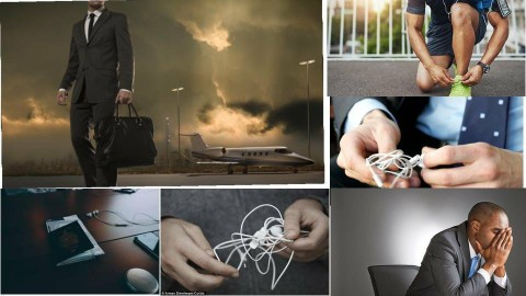Businessman with earphone - by Alexandros Pap