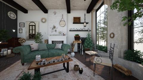 Green2 - Living room - by ArtHousedeco