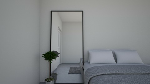 white vibes - Minimal - Bedroom - by nazlazzhra