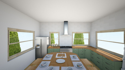 Calming Country Kitchen - Country - Kitchen - by grandplie