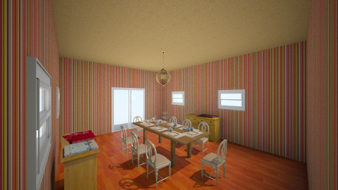 orange express - Dining room - by fabulous_designs