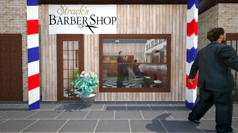 Barber shop outside - Retro - by GoliaNova