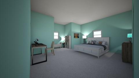 teal bedroom - Bedroom - by Nleisen