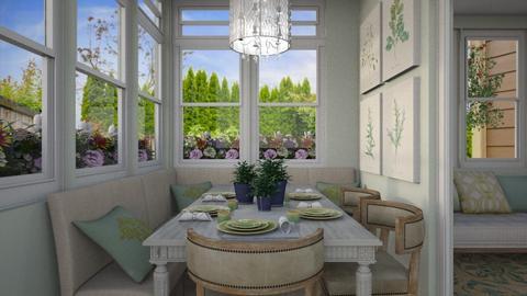 Green Dining Nook - by lauren_murphy