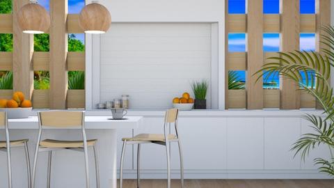 Tropical Kitchen - Modern - Kitchen - by millerfam