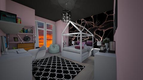 pink nd black - Bedroom - by MSK