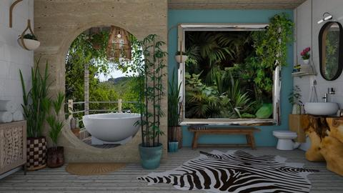 Jungle bathroom - Bathroom - by Nicky West