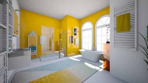 Yellow bath  - Bathroom - by jana2608
