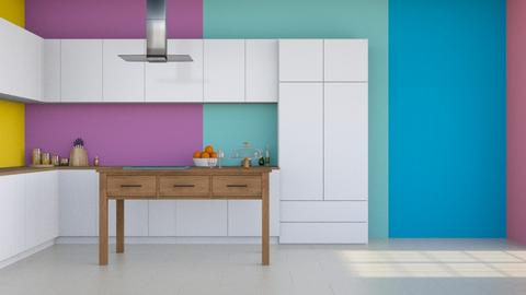 Colorful Kitchen  - Modern - Kitchen - by NEVERQUITDESIGNIT