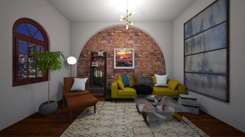 Boho Brickwork - Living room - by kasturgill