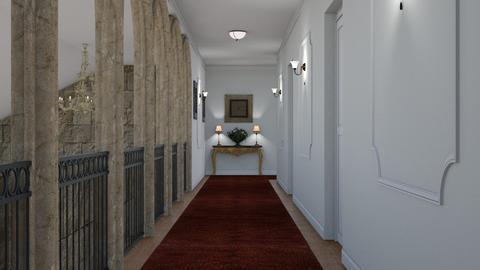 Castle Corridor - Living room - by GraceKathryn