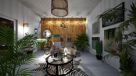 Urban Jungle Living - Living room - by tekoa06