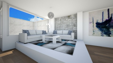 living room  dining room - Living room - by fatycuisine