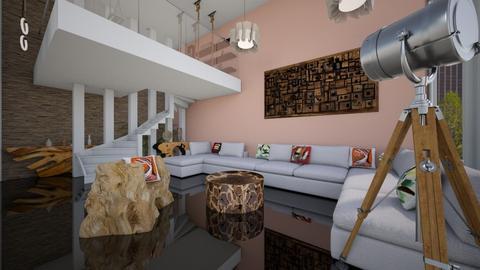 Wooden LivingRoom - Minimal - Living room - by Laurika