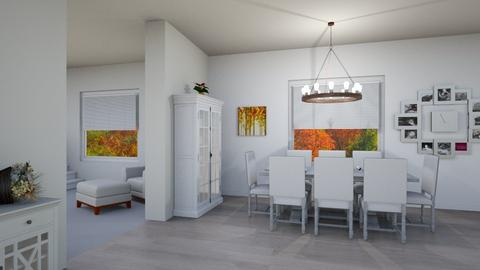 Thanksgiving - Dining room - by josielz