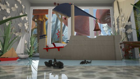 water room - Eclectic - Kids room - by donella