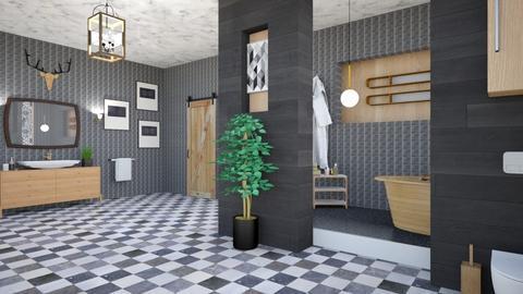 OAK BATH  - Modern - Bathroom - by zayneb_17