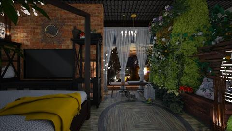 Colombian Jungle - Glamour - Bedroom - by LuzMa HL