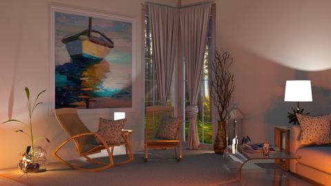 Corner Sitting room - Modern - Living room - by Sue Bonstra