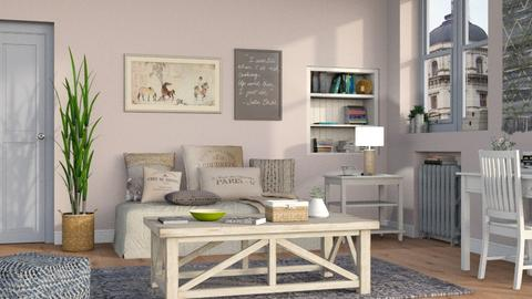Cozy Living 3 - Vintage - Living room - by Sally Simpson
