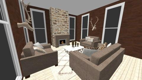 mountain lodge  - Living room - by jessicabaucke