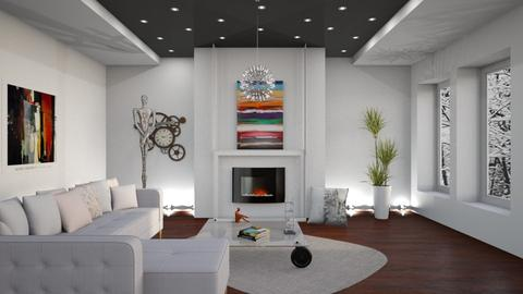 M_ Inspired abstract - Living room - by milyca8