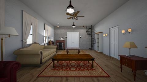 Loft Apartment - Living room - by WestVirginiaRebel