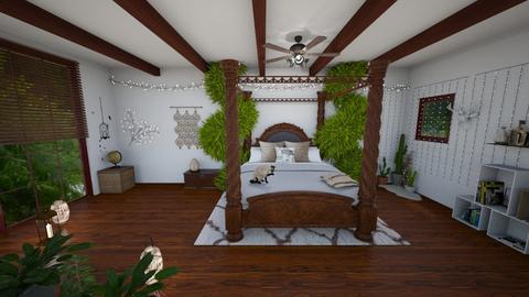 Bohemian bedroom 3 - Bedroom - by yaizalloriginal