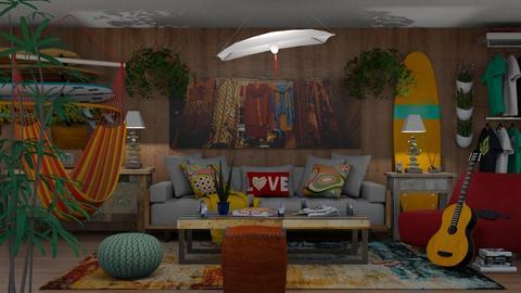 Hang Ten - Eclectic - Living room - by Theadora