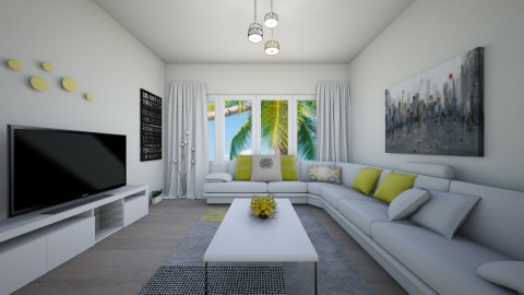 white - Modern - Living room - by Elegent
