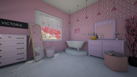 pink bath - Bathroom - by tervezoke