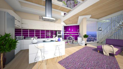 in purple and beige - Modern - Kitchen - by Senia N