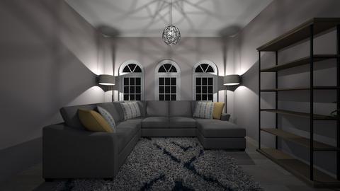 Grey Bedroom - Living room - by heyyymariah