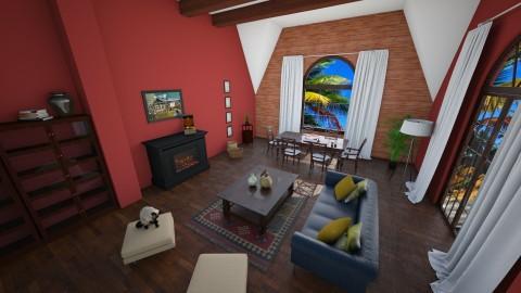 Brazilian - Rustic - Living room - by aniachoynowska
