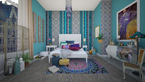 A Bit Of Bohemian  - Vintage - Bedroom - by janip