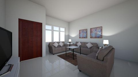 milaha project living aea - Living room - by mohamedaly