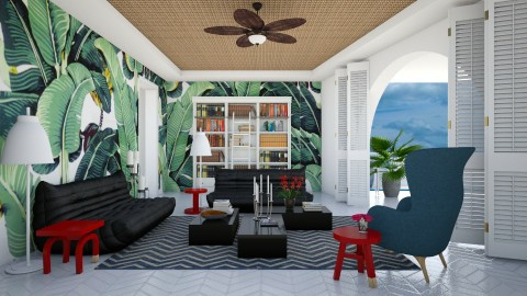Tropical Theme Lounge - Modern - Living room - by 3rdfloor
