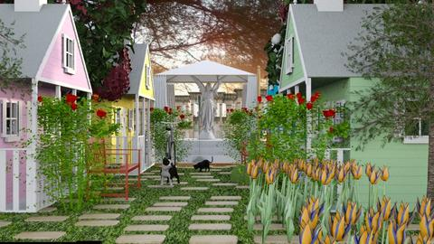 The village is a color - Eclectic - Garden - by elephant in savanna