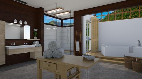 wood wood wood  - Bathroom - by kelseyleigh3