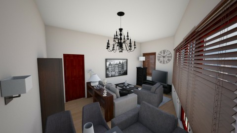 salon 3 - Living room - by martaziolek