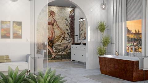 Swan Bathroom - Bathroom - by GraceKathryn