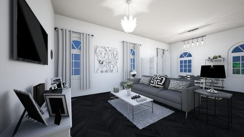 Grey Chic - Modern - Living room - by Katreena Rose